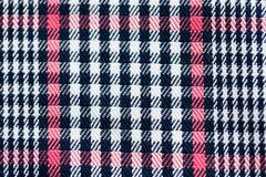 Close up of checkered textile or fabric background Stock Photos