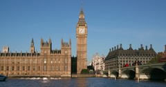 PALACE OF WESTMINSTER BIG BEN LONDON ENGLAND Stock Footage
