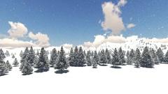 Snow winter resort. Glacier mountain landscape Stock Footage