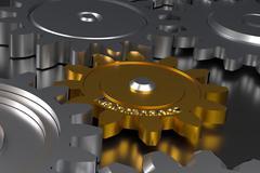 Cog wheels with maintenance Stock Illustration