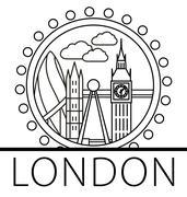 London city skyline Piirros