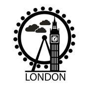 London city skyline silhouette Piirros