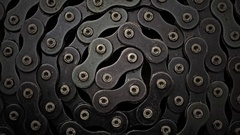 Cycle chain in the grease can be used as a background. Low Key Stock Footage