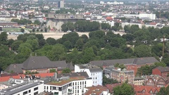 4K Aerial view Hamburg panorama residential building of suburban area suburb day Stock Footage