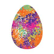 Easter egg isolated. Traditional decoration food for religion holiday Stock Illustration