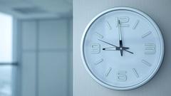 Office Work Begin at Nine,  Clocks showing nine Stock Footage