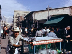 Open Market in Haifa Israel 1960s Stock Footage