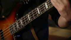 Bass playing rock n roll Stock Footage
