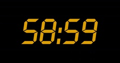 60 Seconds Countdown With Pixels Texture and Complete Sixtieths - 60fps Stock Footage