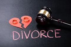 Close-up Of Divorce Concept On Blackboard Kuvituskuvat
