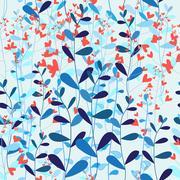 Bright natural pattern Stock Illustration