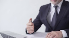 Enterprise leader signing sales contract, lucrative deal with business partner Stock Footage