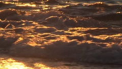 Waves breaking over shoreline, Lake Superior, Michigan USA Stock Footage