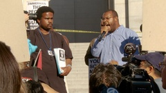 Trayvon Martin Speech 4 of 5 Stock Footage