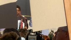 Trayvon Martin Speech  Stock Footage
