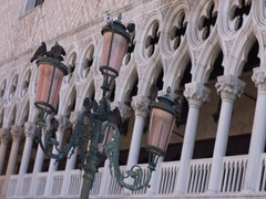 Buildings detail from Doges Palace Stock Footage