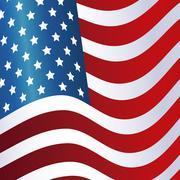 President day flag united states of america waving design Stock Illustration