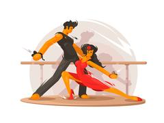 Dancing school concept Stock Illustration