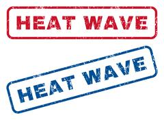 Heat Wave Rubber Stamps Stock Illustration