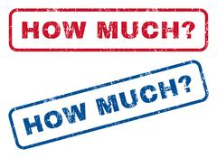 How Much Question Rubber Stamps Stock Illustration