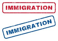Immigration Rubber Stamps Piirros