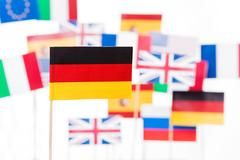 Flag of Germany against EU member-states flags Stock Photos