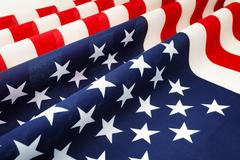 Stars and stripes United States of America bunting Stock Photos