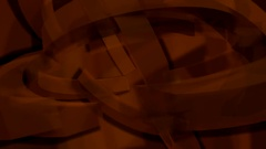 Spinning brwon abstract shapes Stock Footage