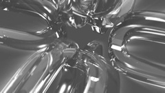 Spinning silver abstract shapes Stock Footage