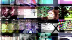 Blended tv walls Stock Footage