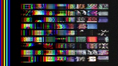 Broadcast static tv wall Stock Footage
