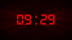 Digital millisecond countdown Stock Footage