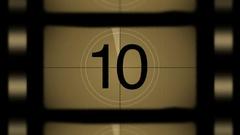 Film strip countdown Stock Footage