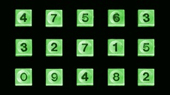 Green telephone numbers Stock Footage