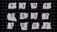 Graph paper numbers Stock Footage