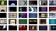 Pan and scan visual screens Stock Footage