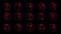 Red light painting countdown Stock Footage