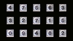 Telephone booth numbers Stock Footage