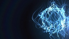Blue squiggly lines Stock Footage