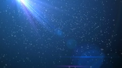 Light beams and floating particles Stock Footage