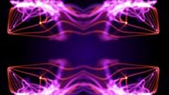 Purple flourishes reflecting Stock Footage