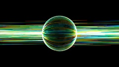 Spinning ball of energy Stock Footage