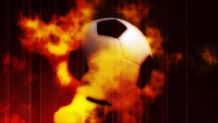 Soccer ball on fire Stock Footage
