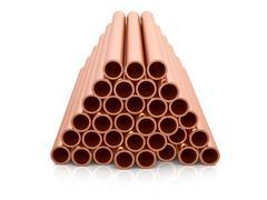 Copper pipes Stock Illustration