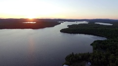 Aerial Videos of Lac des Isles, Mont-Laurier, Quebec, Canada Stock Footage