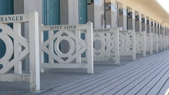 DEAUVILLE, FRANCE, Famous northern French city Promenade Stock Footage