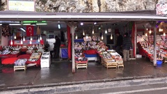 Fish market in Sile Stock Footage