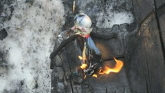Burning effigy of carnival during carnival Stock Footage