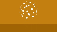 Orange background with bouncing ball. Backdrop texture with motion. Stock Footage