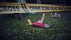 4K Crime Scene Camera Moving around Evidences  Stock Footage